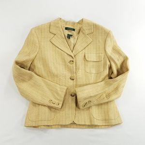 Lauren Ralph Lauren Pure Linen Blazer Coat Suit